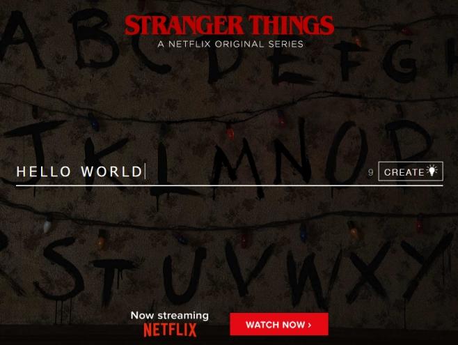 stranger things wall