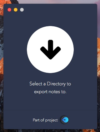 Exporter-select-directory