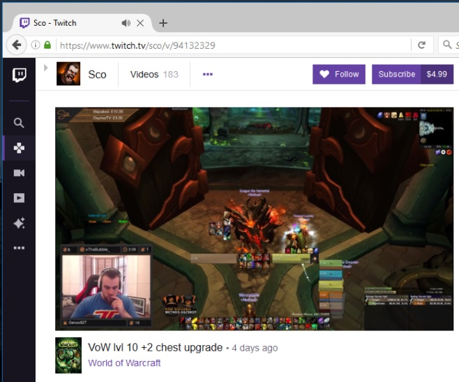 Twitch Video Control