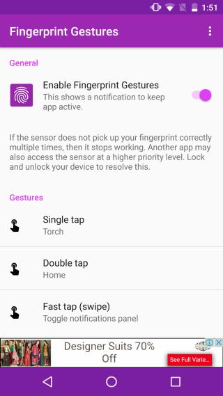 Fingerprint Gestures (Beta)