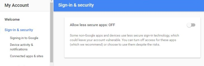 Sign-in & security - Google