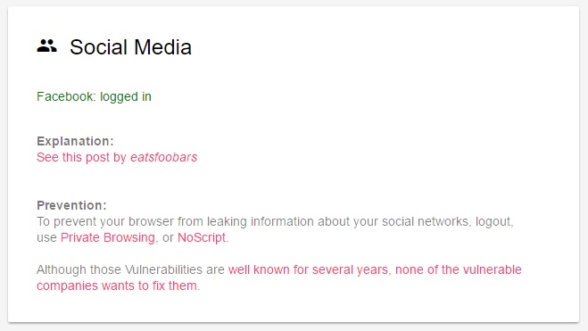 What every Browser knows about you-social