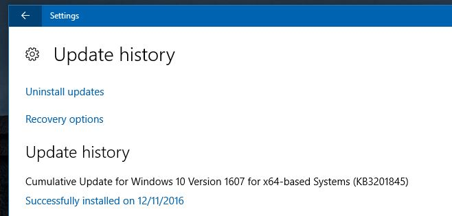 windows update KB3201845