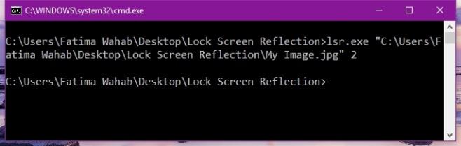 Lock Screen Reflection
