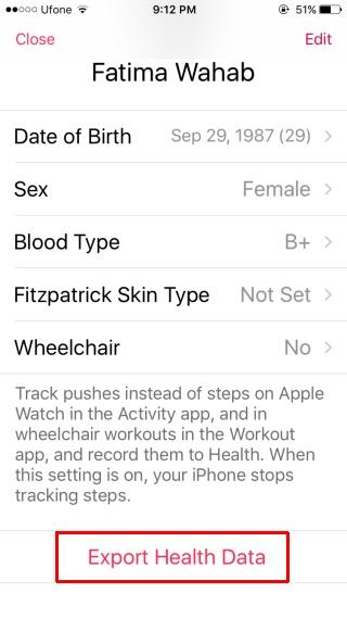 export-health-app-data