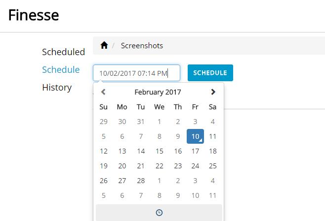 finesse schedule