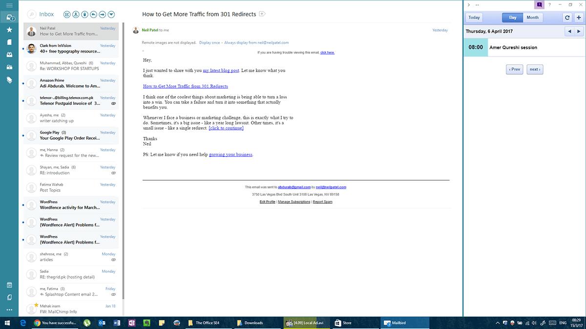 Mailbird Inbox