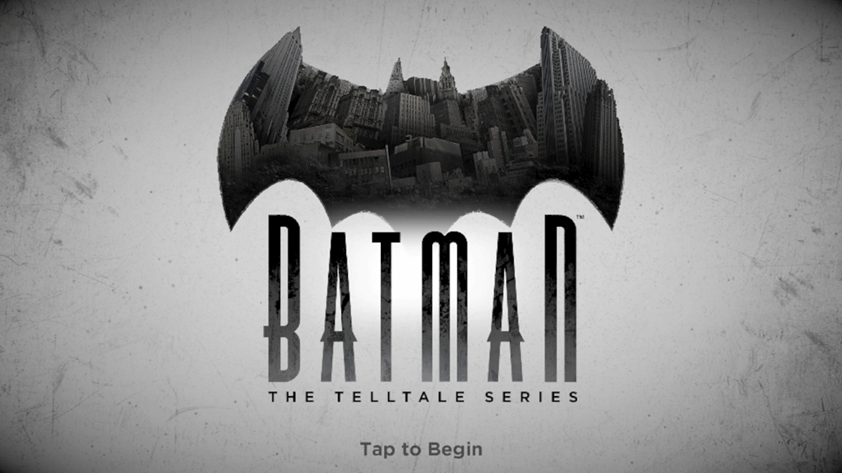 Batman Telltale Launch Screen
