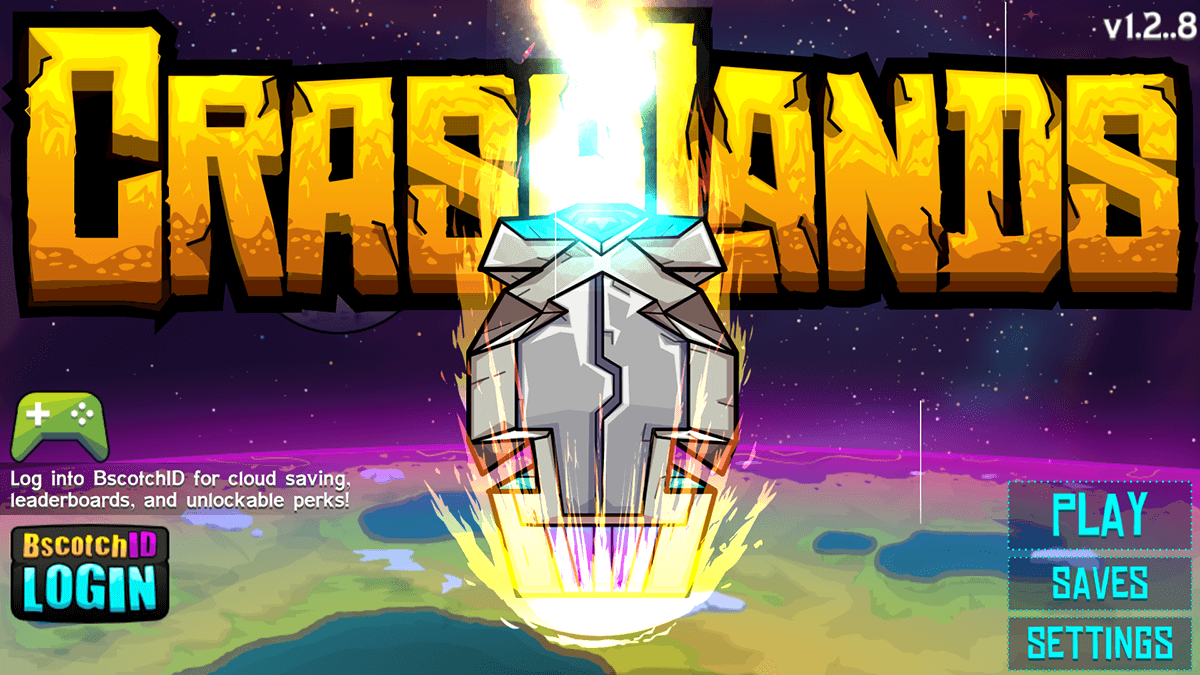 Crashlands Launch Screen