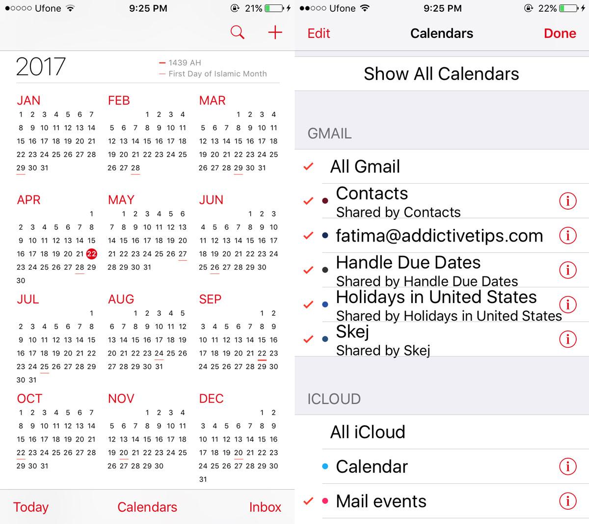 add google calendars