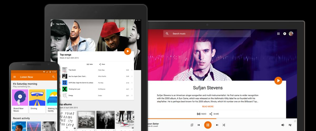 Google Play Music – devices