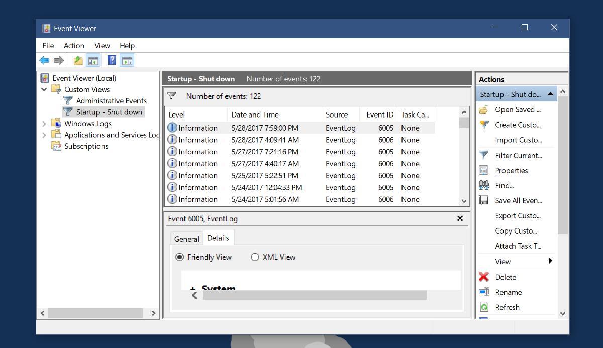 custom event viewer filter
