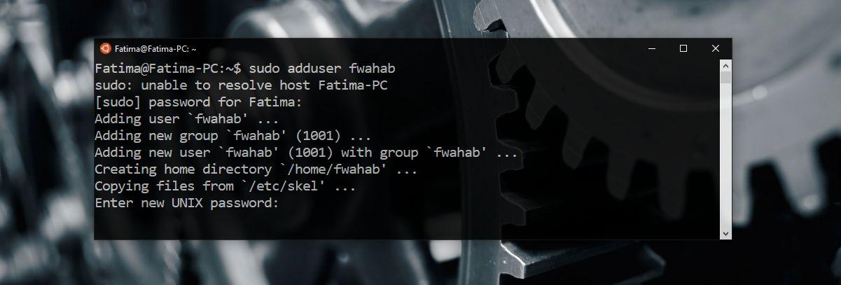 new linux user password