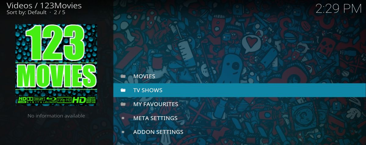 123Movies video add-on for Kodi – install guide