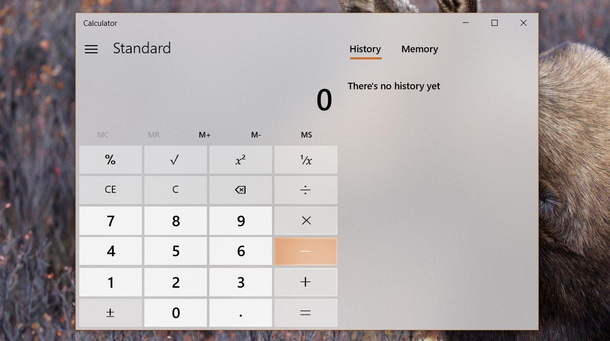 calculator app fluent design