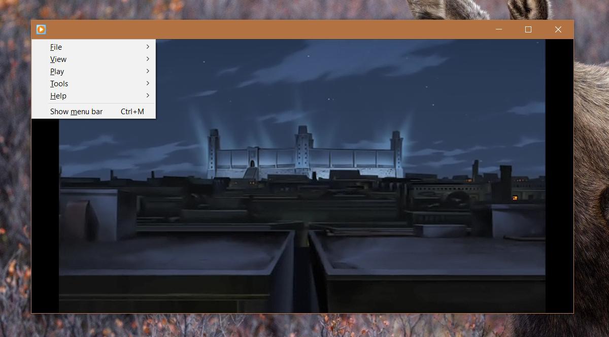 windows media player menus