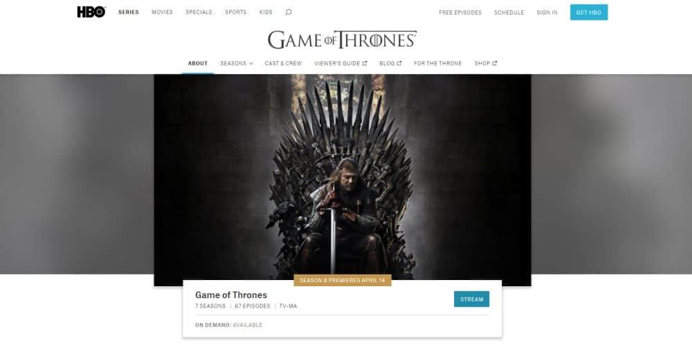 Game of Thrones – HBO, Season 8