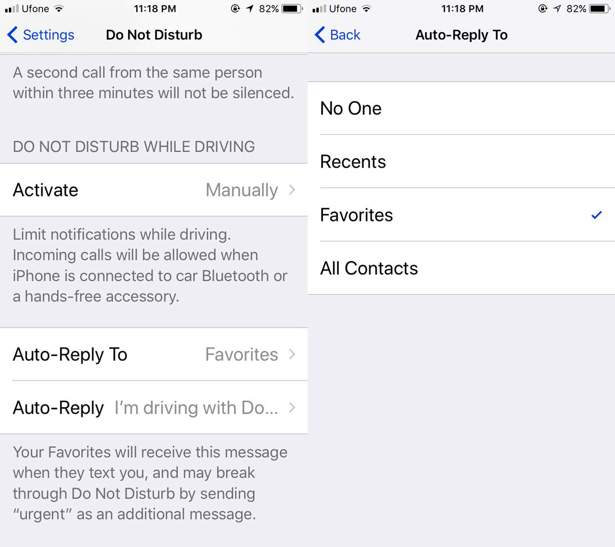 auto reply settings