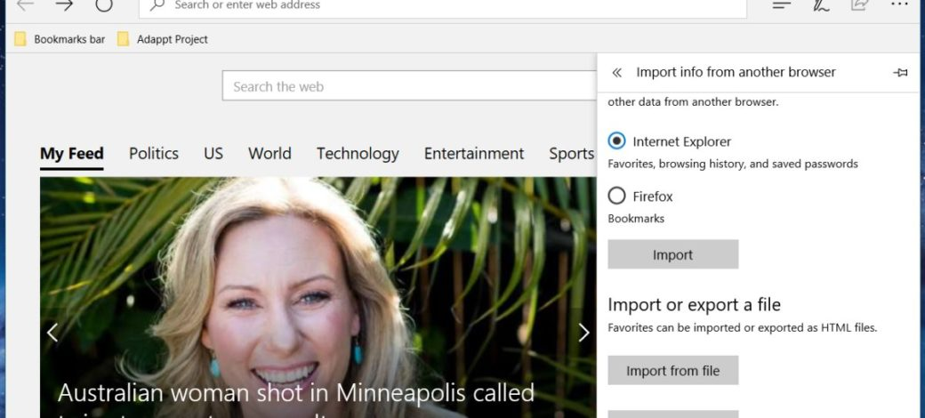 How To Export Bookmarks From Microsoft Edge In Windows 10