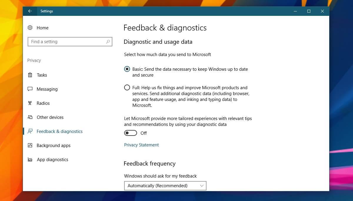 feedback and diagnostics