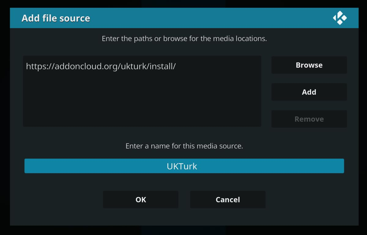 Add the UKTurk source from AddonCloud