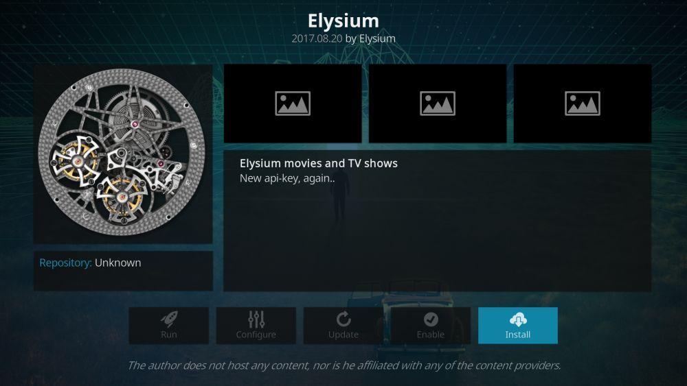 Elysium Kodi addon – how to install it