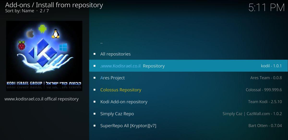 Install Kodil repository on Kodi