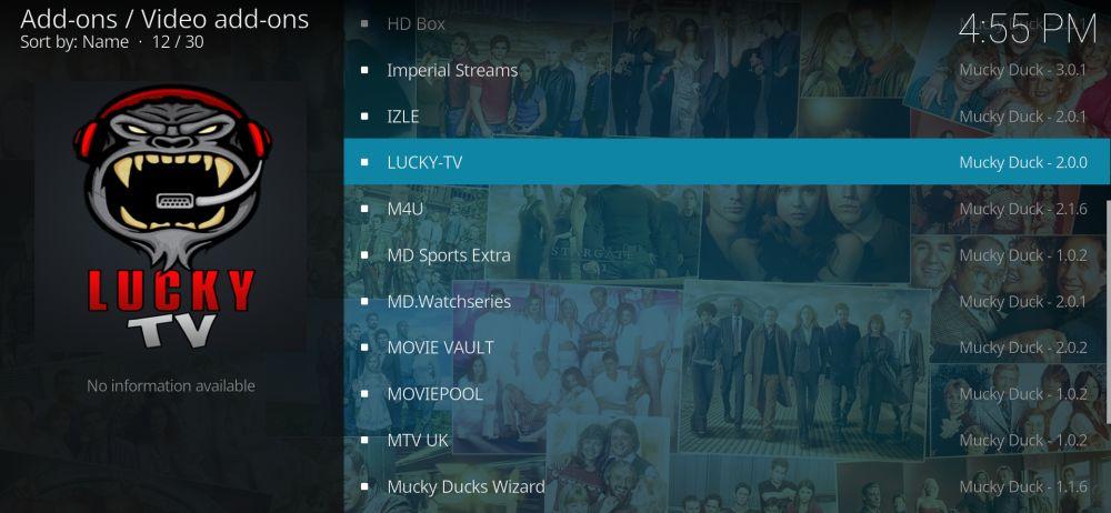 Install Lucky TV addon for Kodi