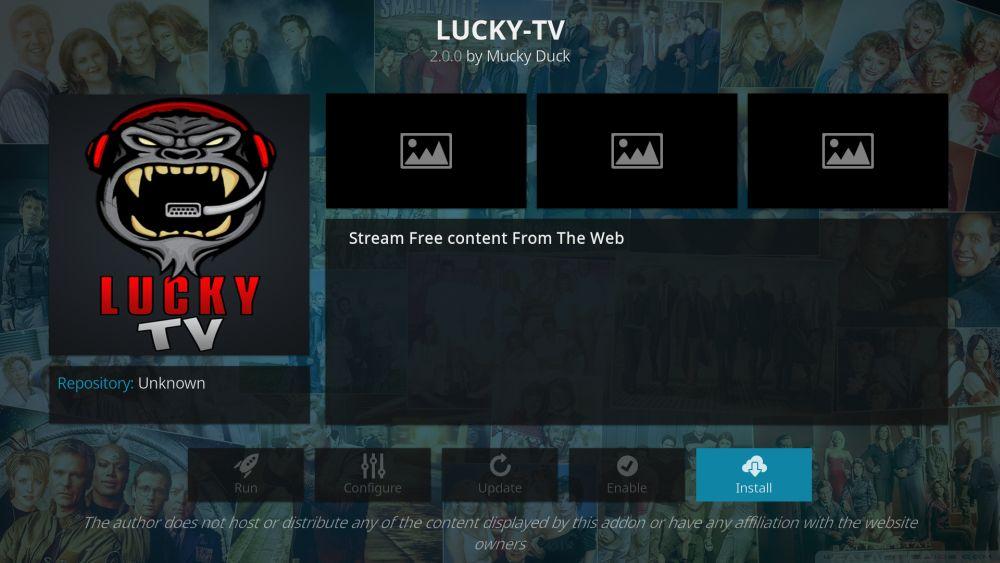 Lucky-TV addon for Kodi – install guide