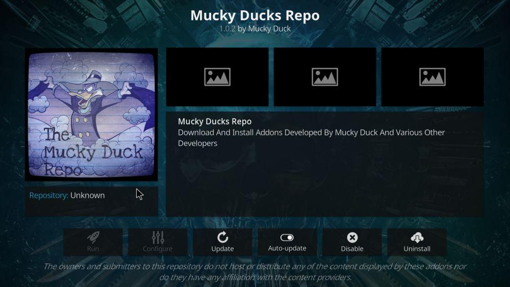 Mucky Ducks repository for Kodi
