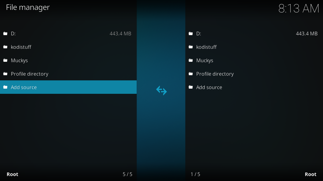 File Manager Screen
