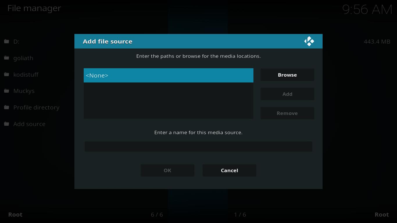 Add source empty dialog