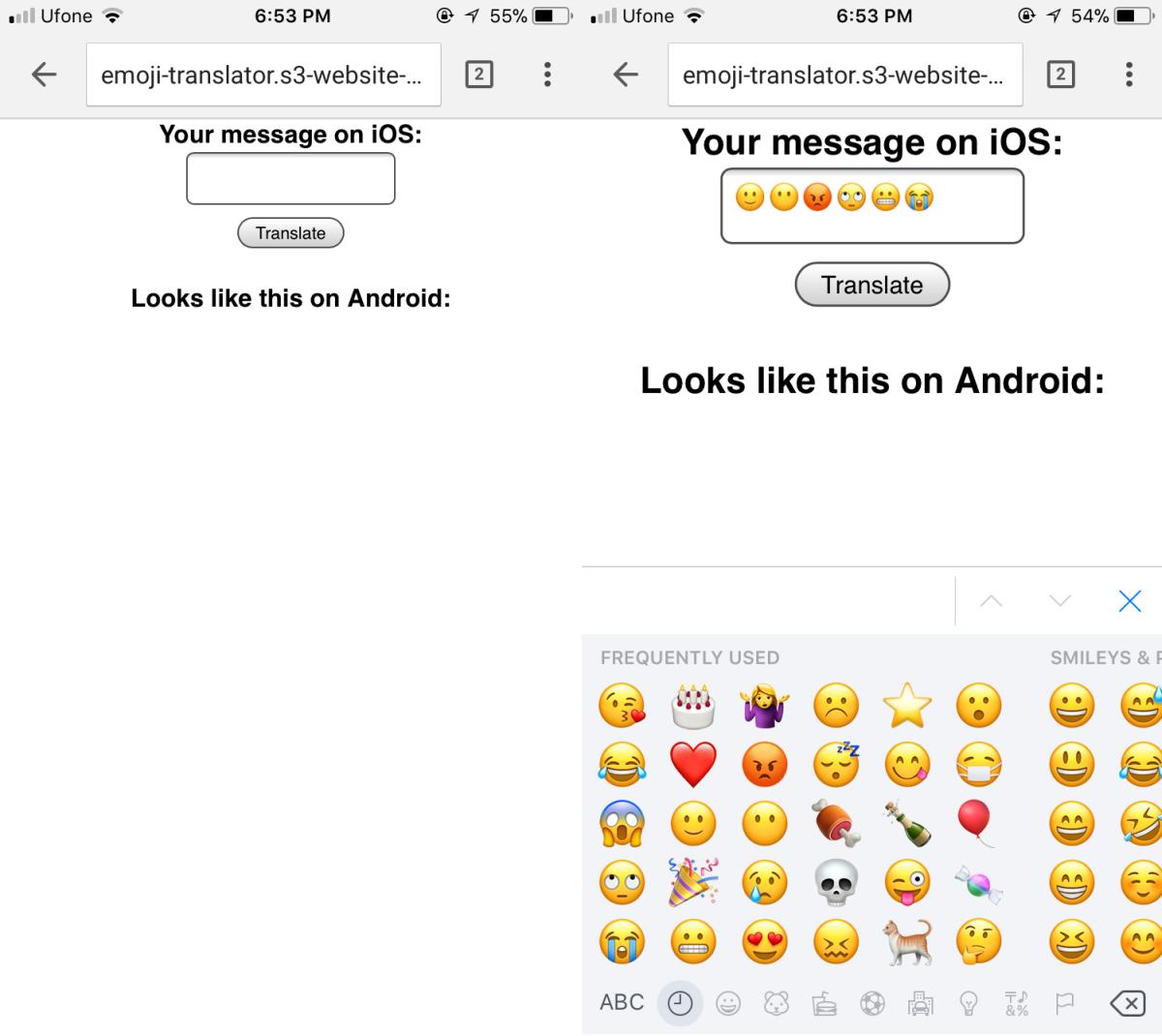 Emoji Platform Translator
