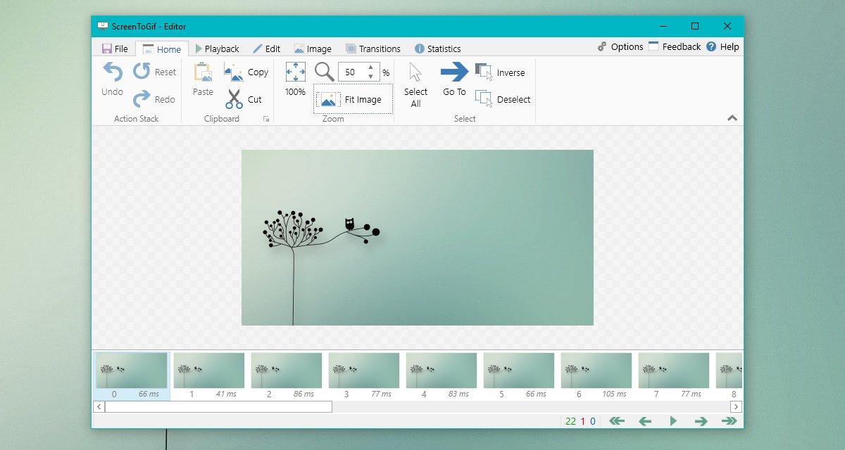 ScreenToGif editor