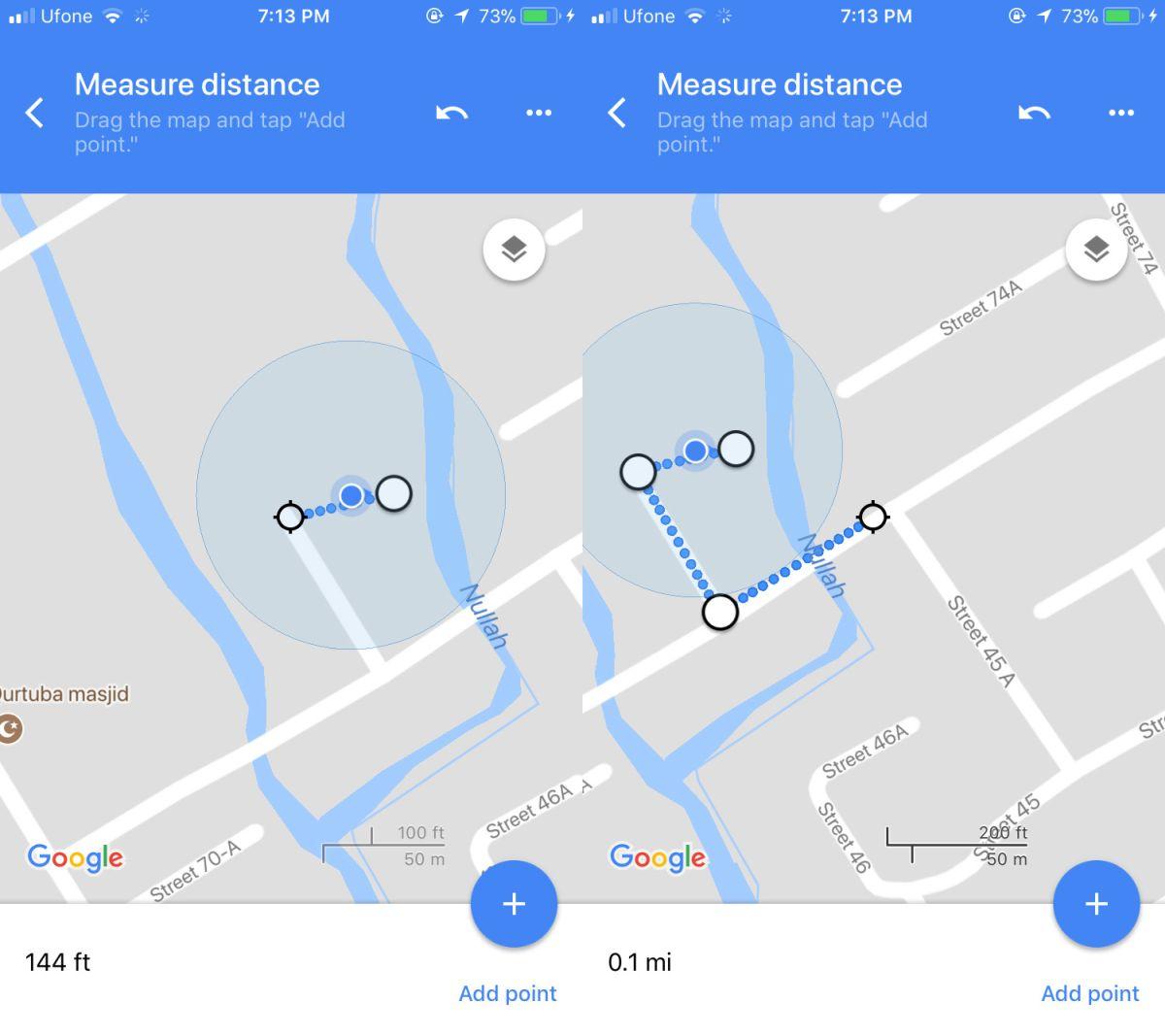 distance google maps