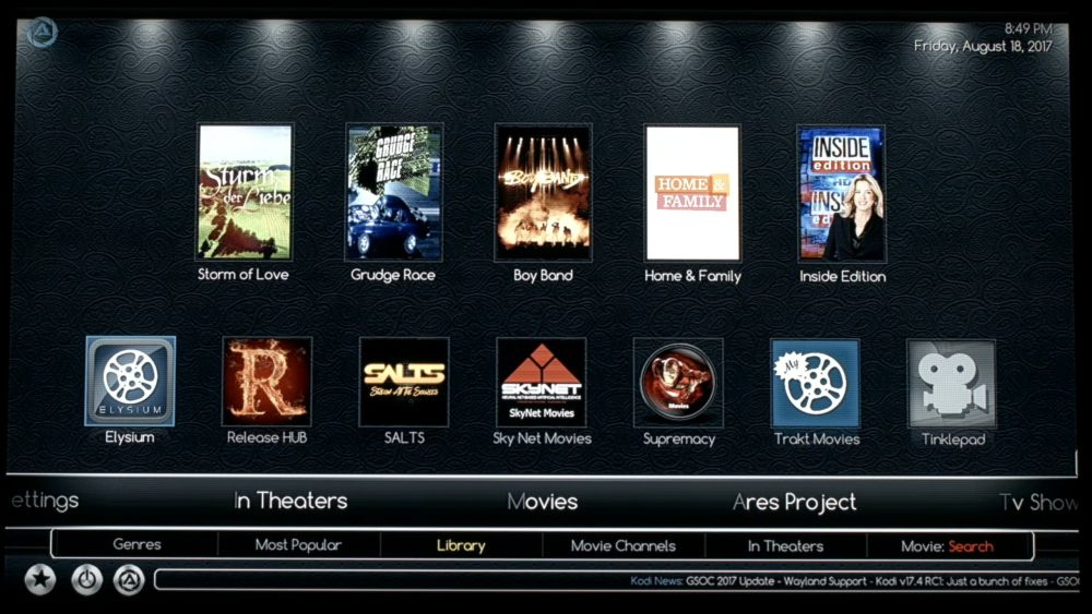 Ares Wizard Build for Kodi 17