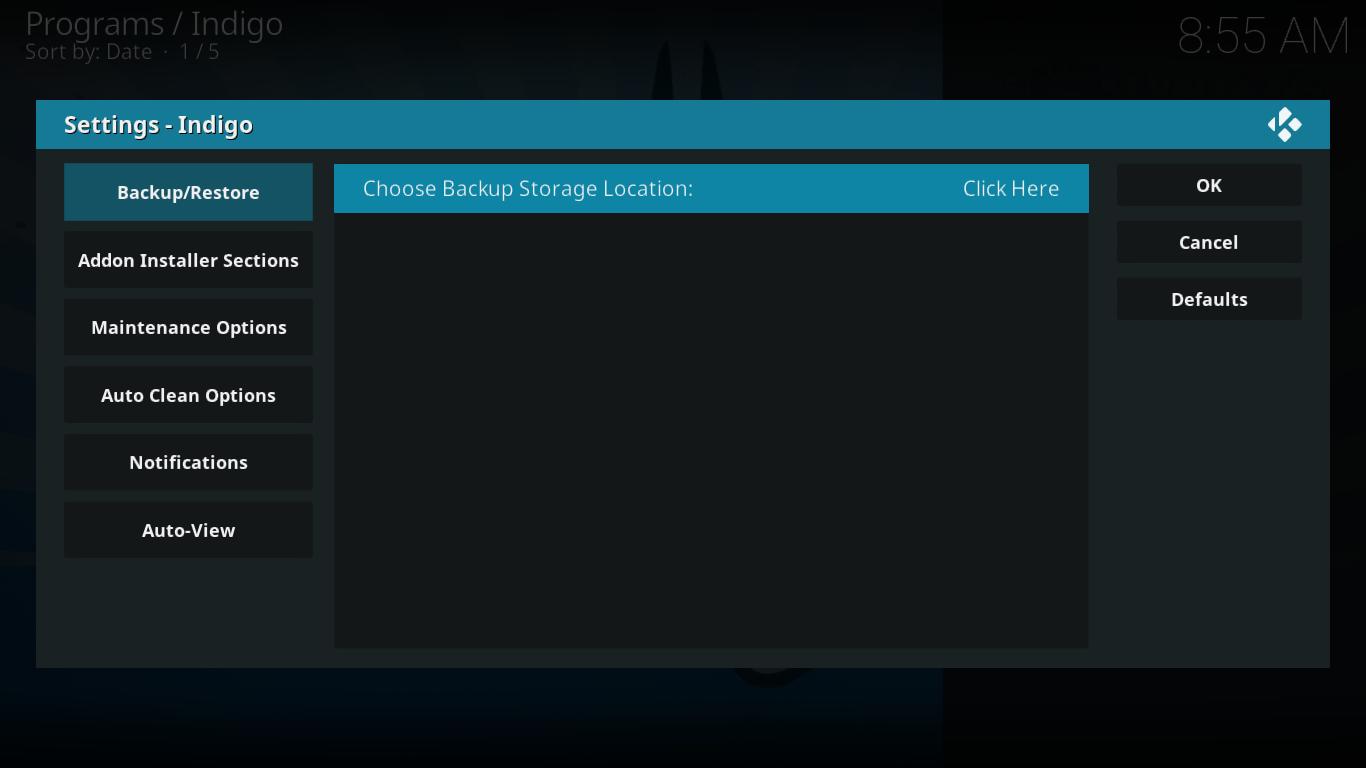 Backup Location Selection