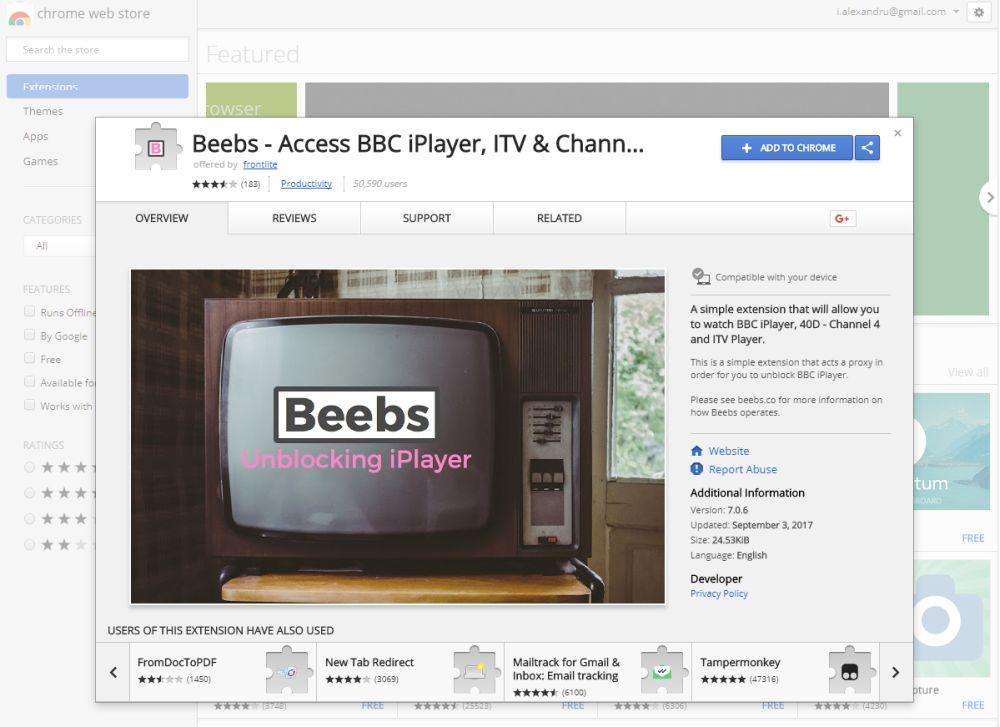 Beebs Chrome extension – Watching Rugby Live