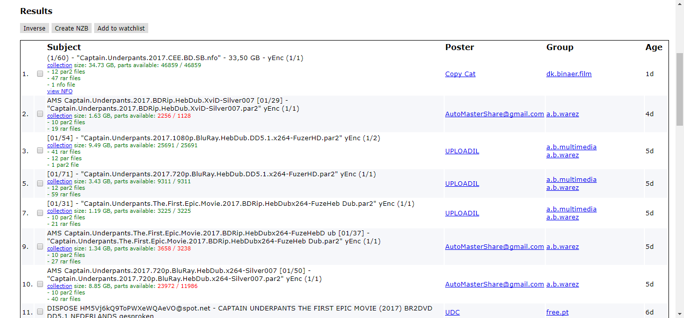 Binsearch.info Search results