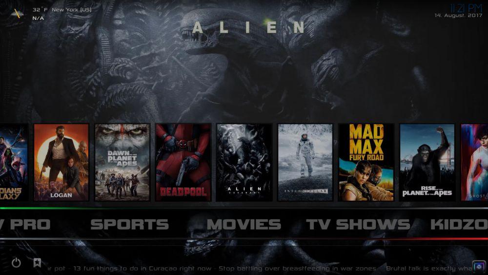 CellarDoor TV Build for Kodi 17 Krypton