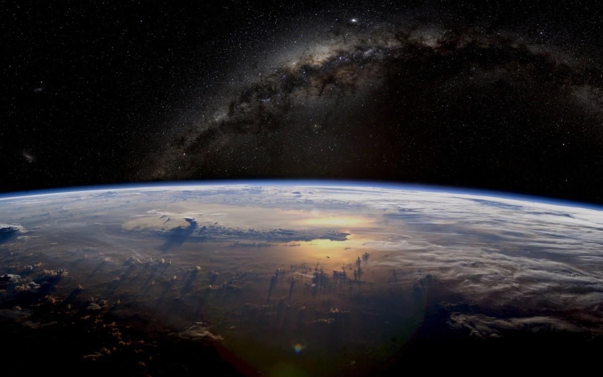 Earth And Galaxy