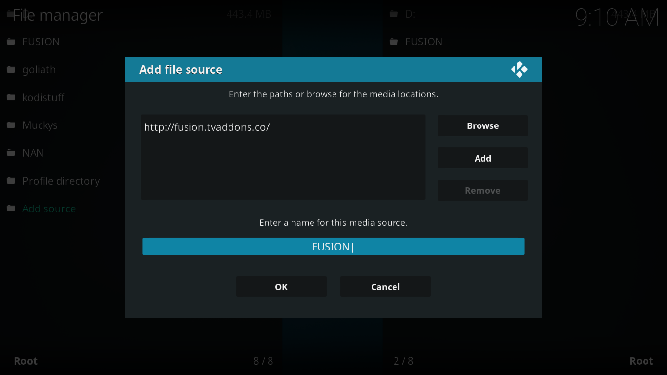 File Source dialog