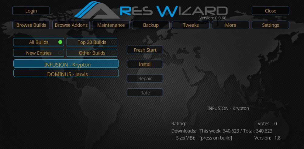 Install CellarDoor Kodi Build from Ares Wizard