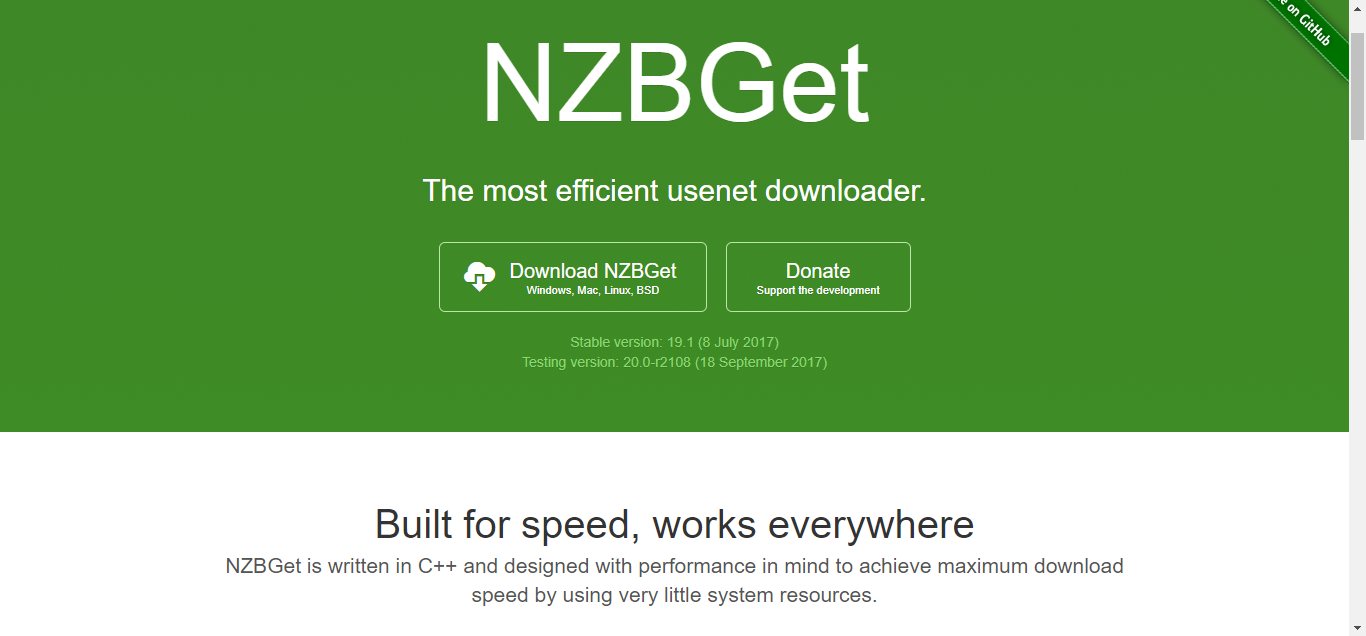 NZBGet Homepage