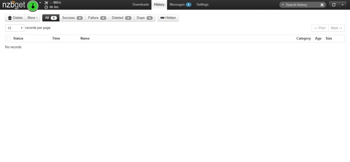 NZBGet Screenshot