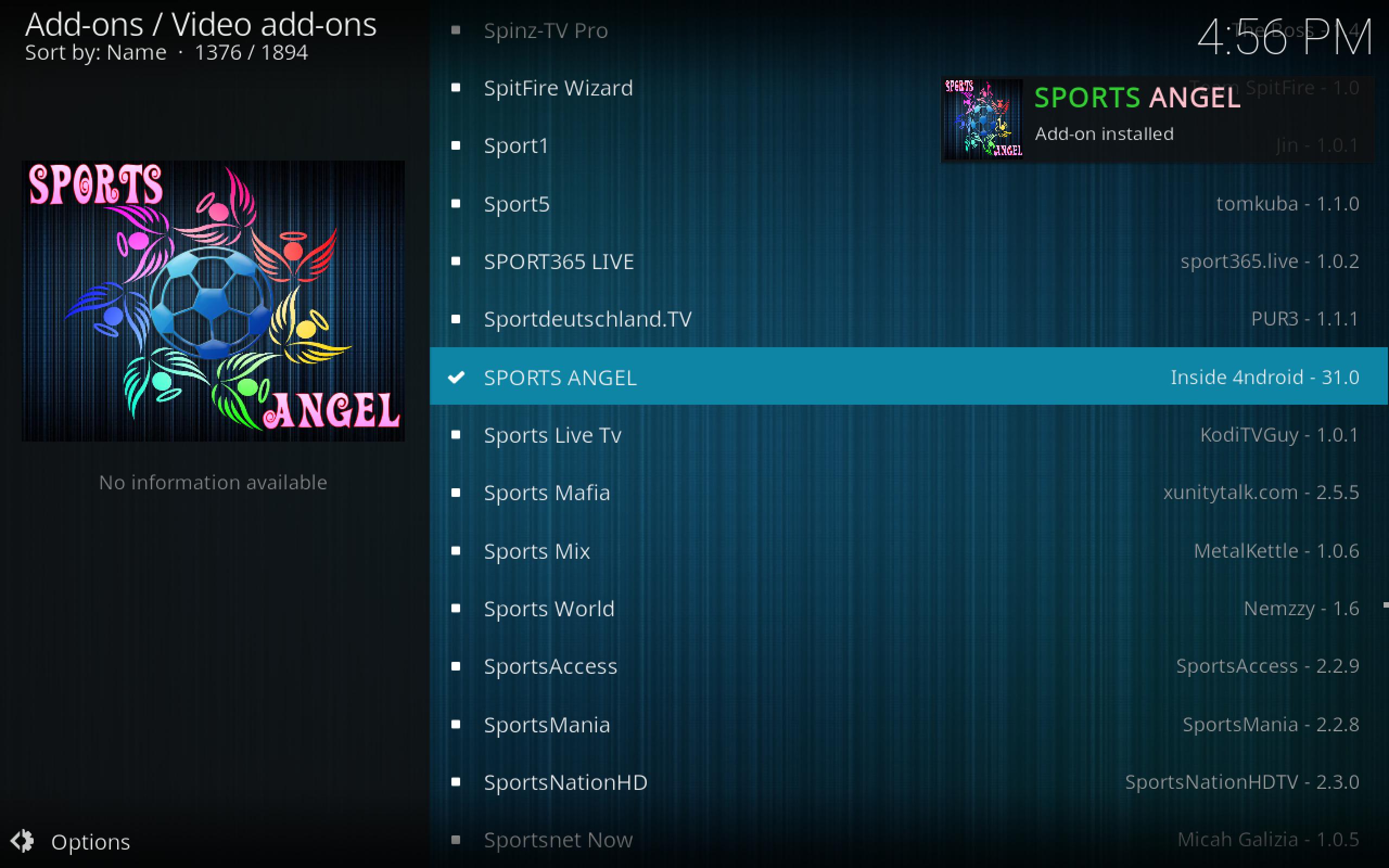 Sports Angel Installed via SR