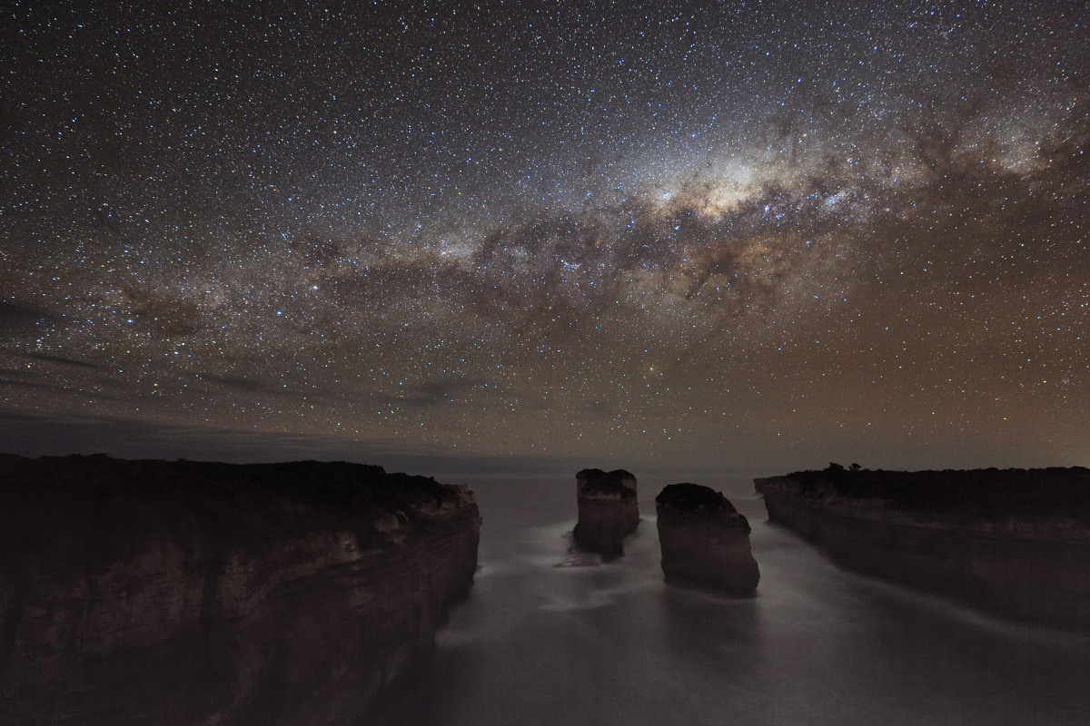 The Ocean, Cliffs, And The Galaxy