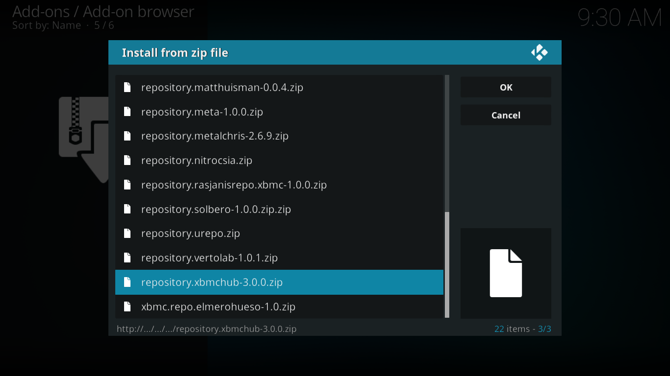 Zip File Selection