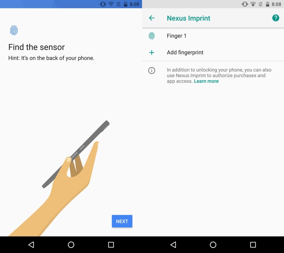 android fingerprint