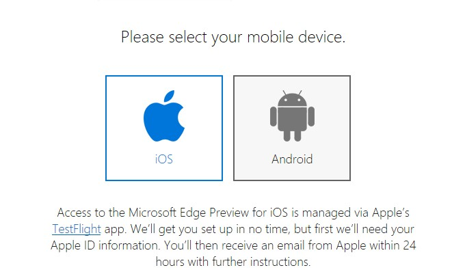 How To Sign Up For Microsoft Edge Preview For iOS & Android